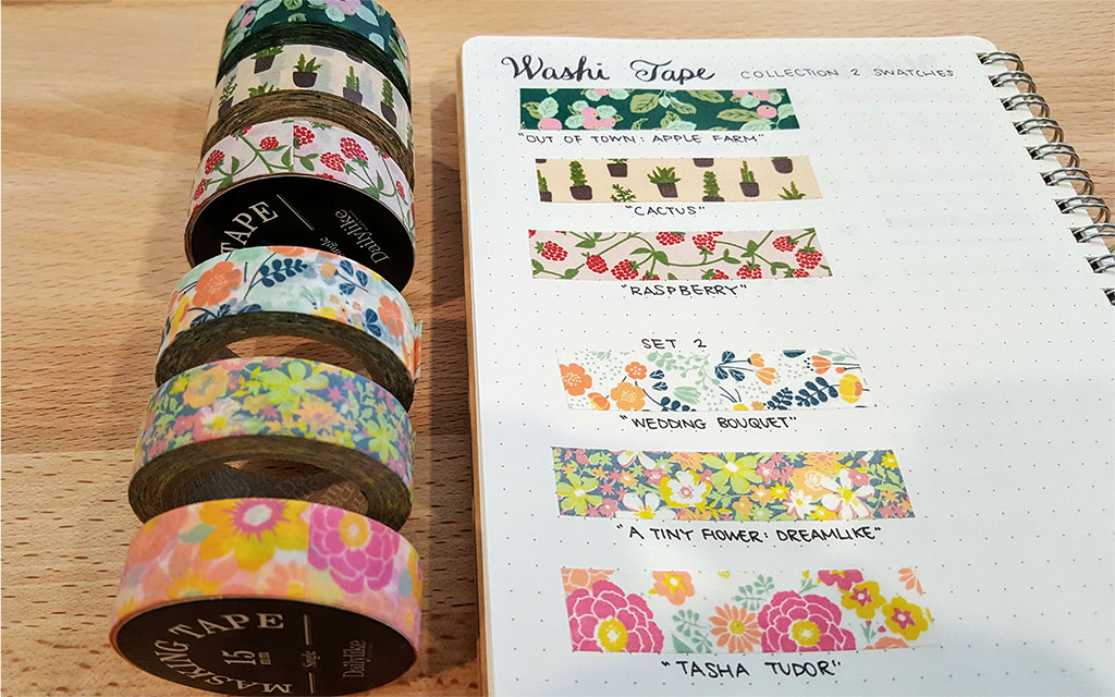 how to use washi tape in bullet journal